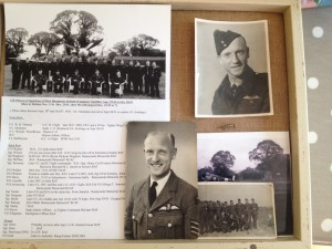 Caterpillar badge and photos to Sgt Wilson 129 sqn shot down on the channel dash