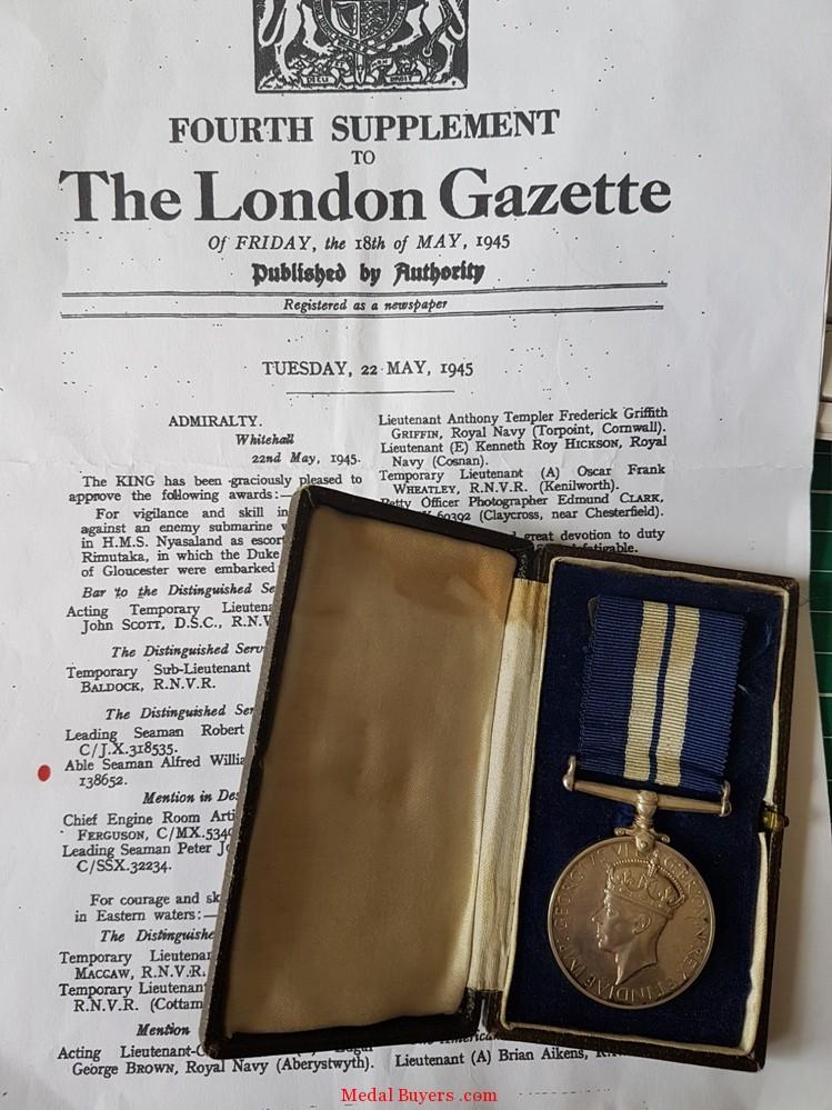 Distinguished Service Medal Group