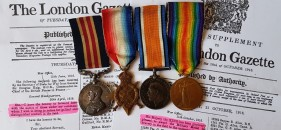 Top cash price paid for Medal Collection